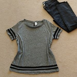 H&M Grey and Black Shirt